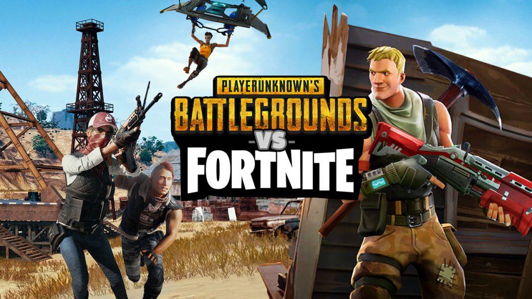Battlegrounds versus Fortnite