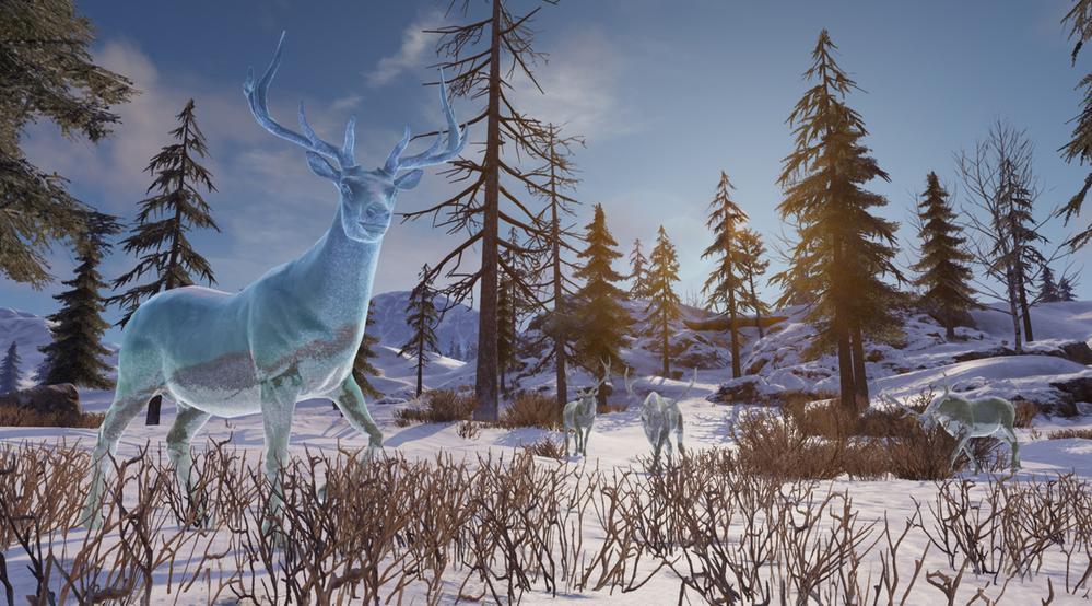 Frozen deer on Battle Royale map
