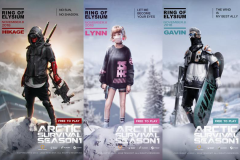 The Icon Characters for Ring of Elysium Battle Royale