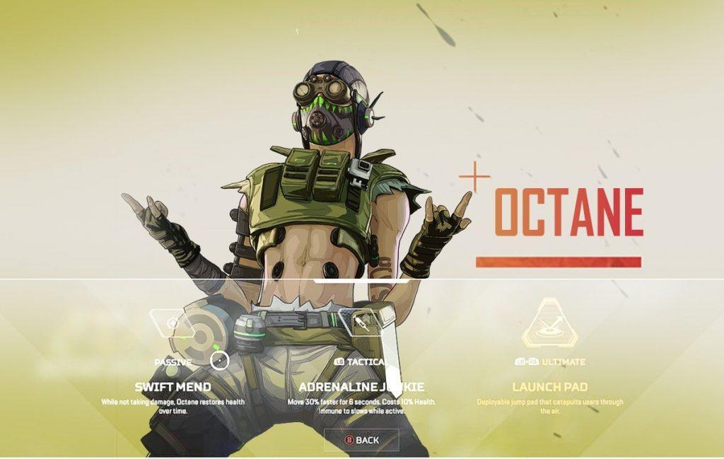 Octane Apex Legends Season 1 Character